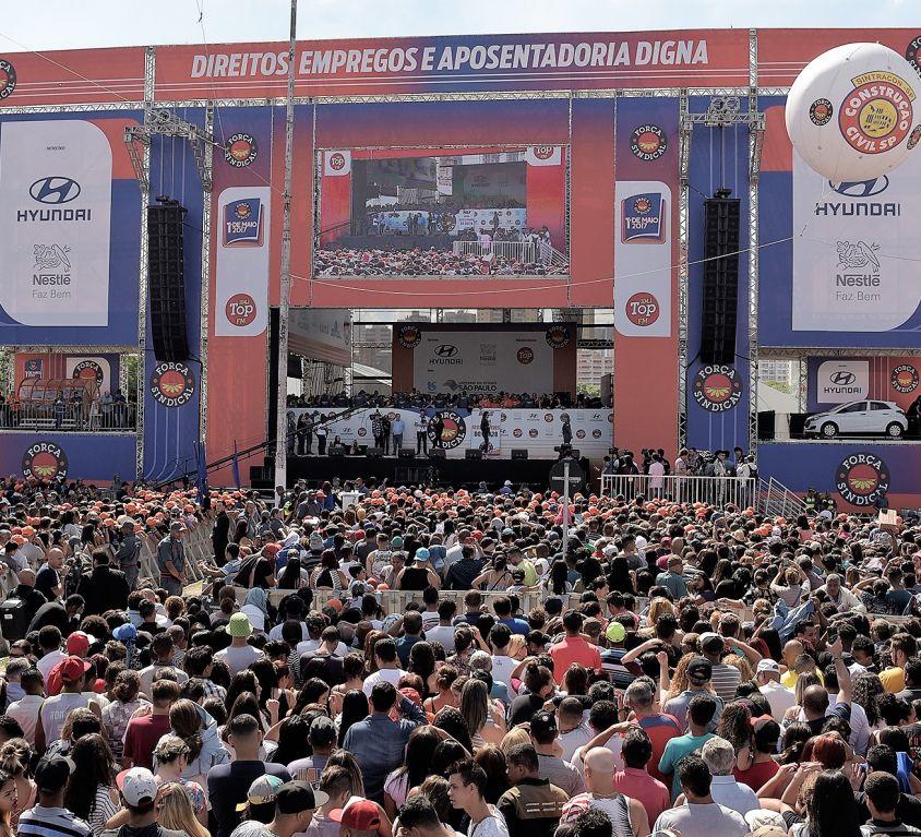 """<b>FESTA DO TRABALHADOR – 1º DE MAIO</b><br /><br /><i class=""""fas fa-tag""""></i> Mega evento, infraestrutura, shows, cultural<br /><br /><i class=""""fas fa-users""""></i> 1 milhão pax"""